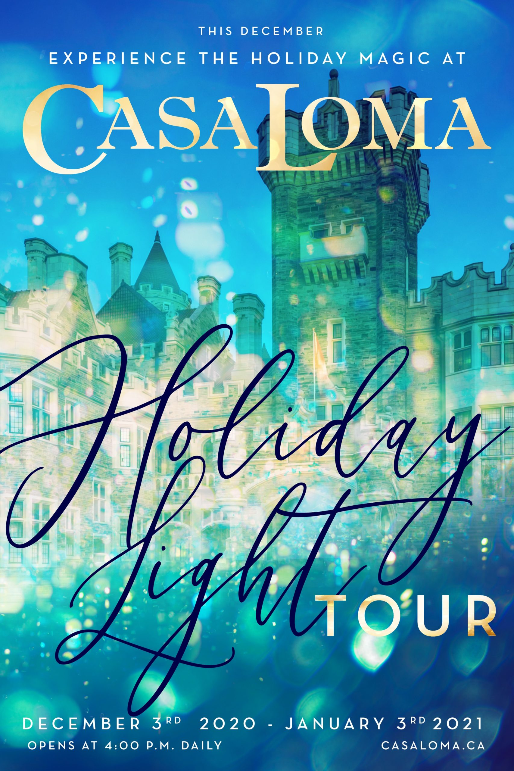 Casa Loma's Holiday Light Tour